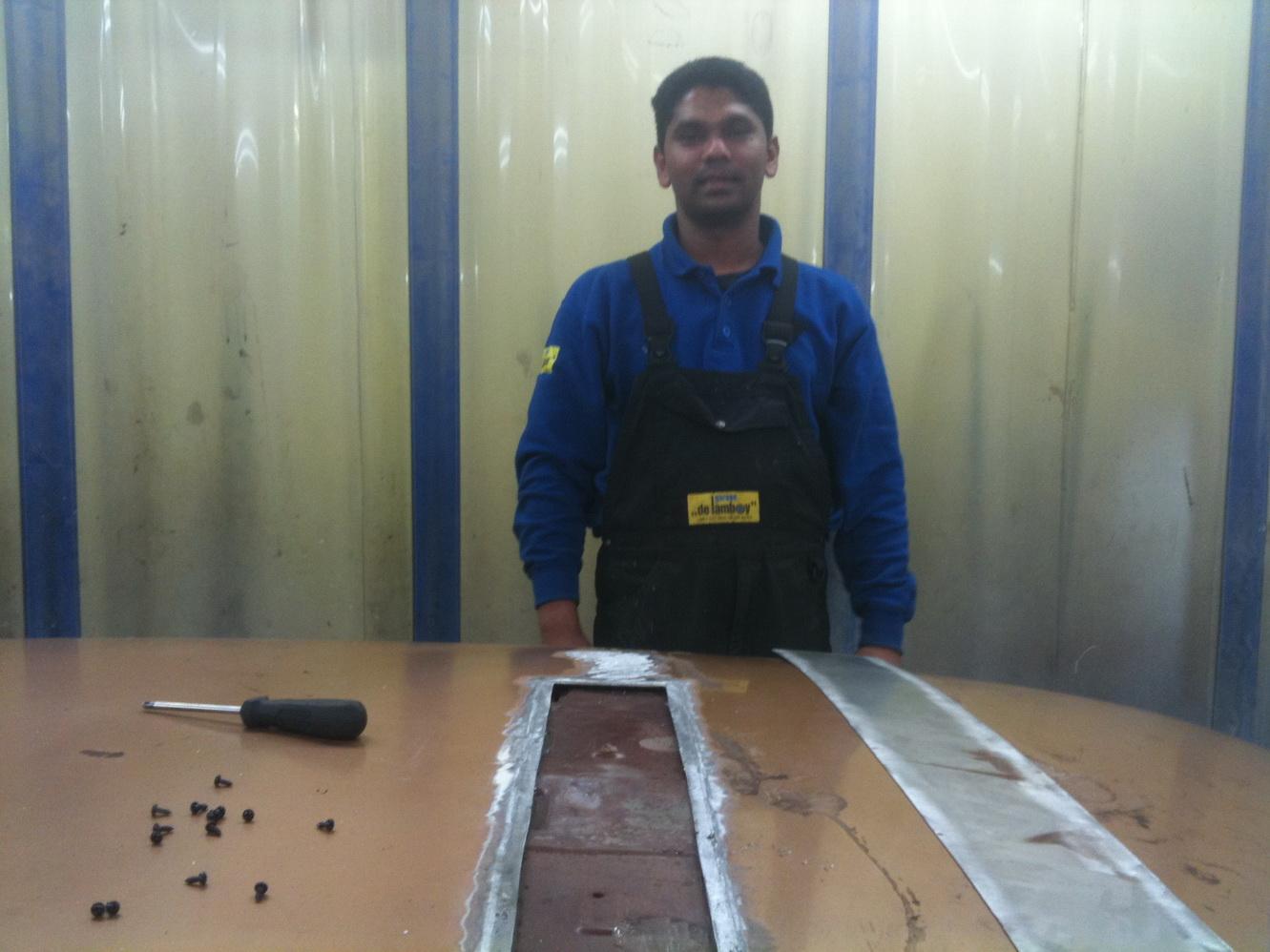 20101119 1977 cadillac eldorado biarritz roof repair 06