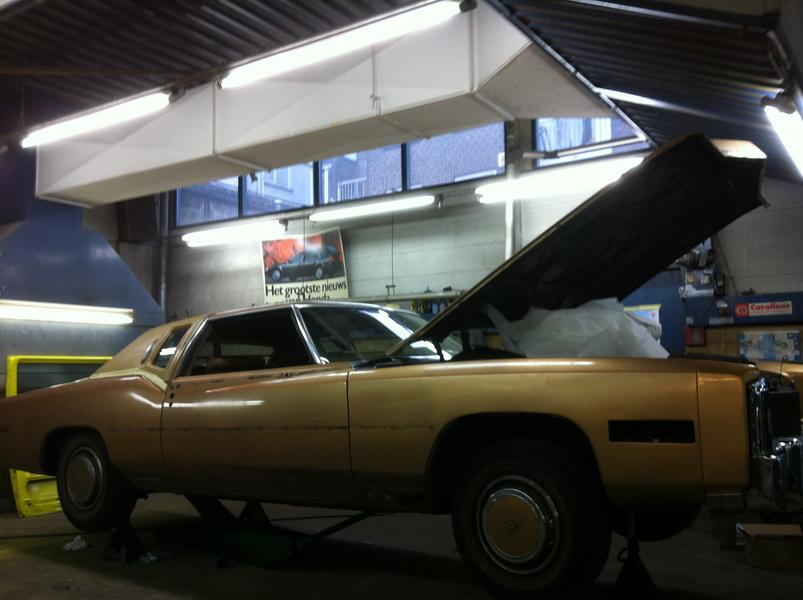20111205 1977 cadillac eldorado biarritz body work process 02