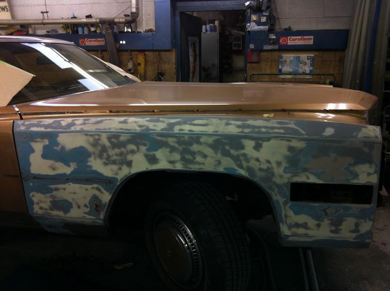 20111205 1977 cadillac eldorado biarritz body work process 08