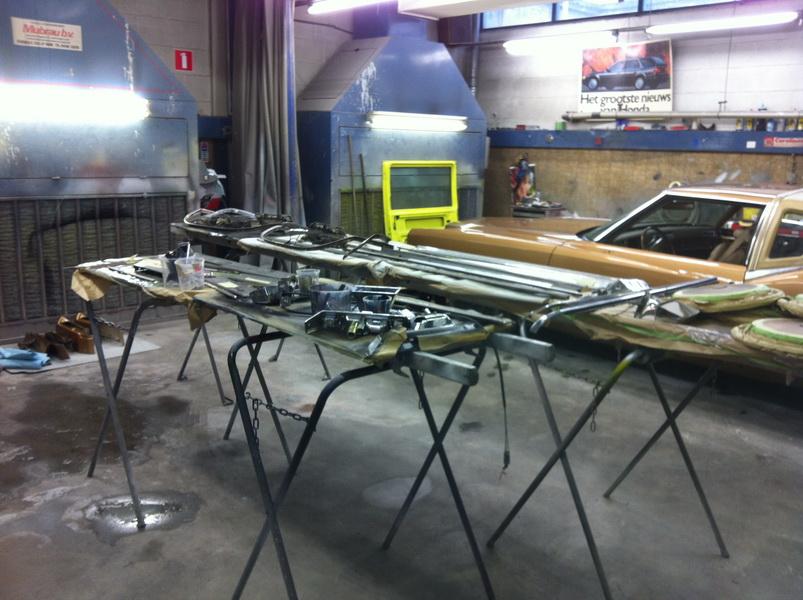 20111205 1977 cadillac eldorado biarritz body work process 62