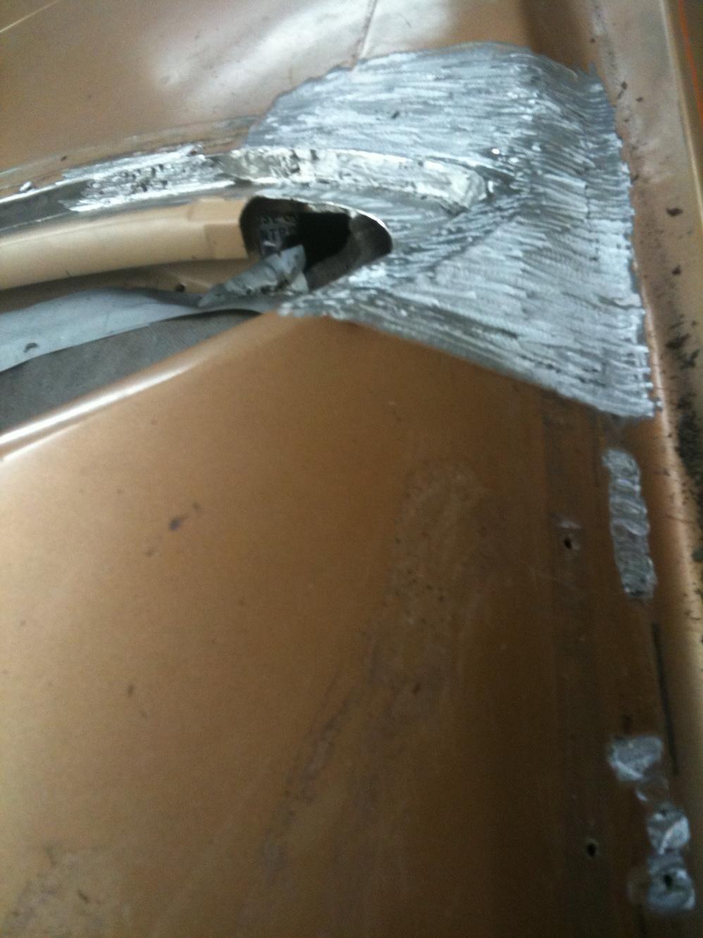 20101119 1977 cadillac eldorado biarritz roof repair 13